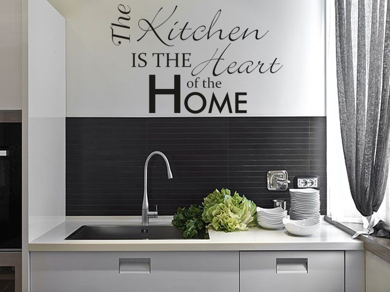 The Kitchen is the Heart of the Home  Wall Art Sticker